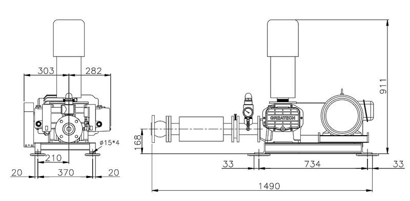 Máy thổi khí Greatech -G65